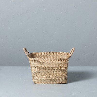 Medium Woven Seagrass Basket with Handles - Hearth & Hand™ with Magnolia