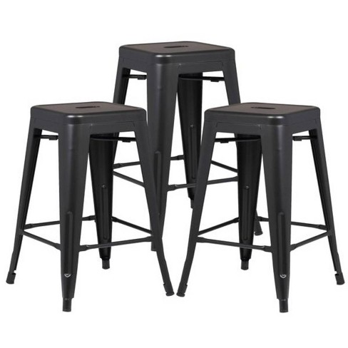 """24"""" Set of 3 Franco Industrial Counter Height Stool - Poly & Bark - image 1 of 3"""