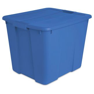 Sterilite 20 Gal Latch Tote Turquois Blue