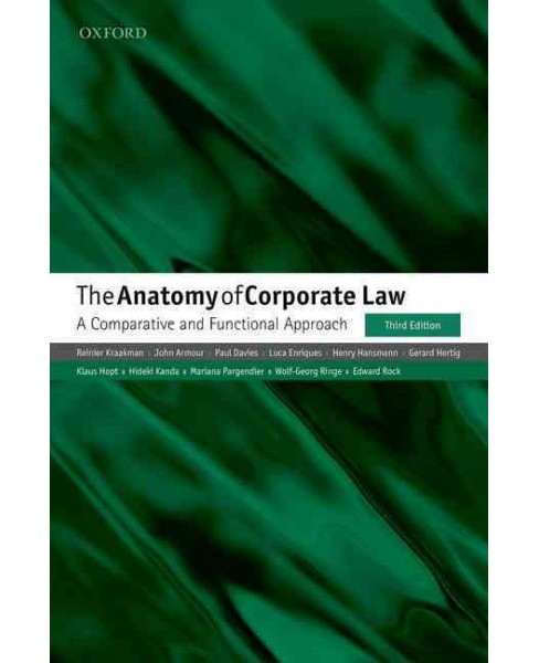 Anatomy of Corporate Law : A Comparative and Functional Approach (Hardcover) (Reinier Kraakman & John - image 1 of 1