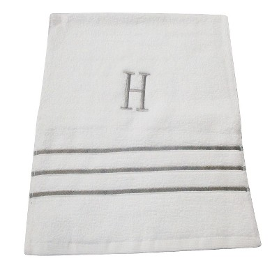 Monogram Hand Towel H - White/Skyline Gray - Fieldcrest®