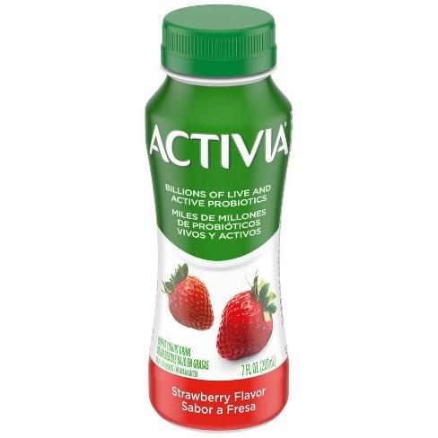 Dannon Activia Strawberry Flavored Probiotic Drink - 7 fl oz - image 1 of 1