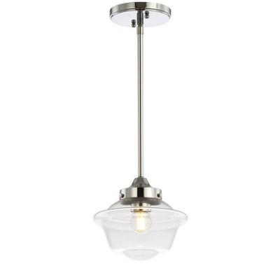"7.2"" Adjustable Metal/Glass Kurtz Drop Pendant (Includes Energy Efficient Light Bulb) - JONATHAN Y"