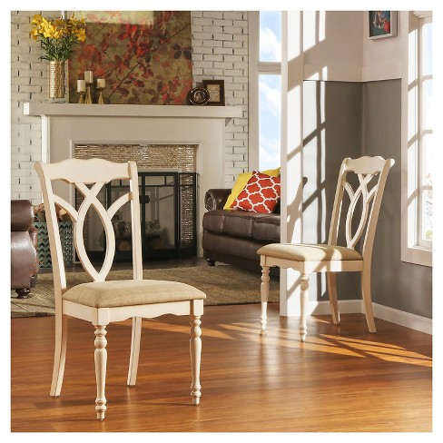 + 4 more - Wakefield Dining Chair Wood/Antique White (Set Of 2 : Target