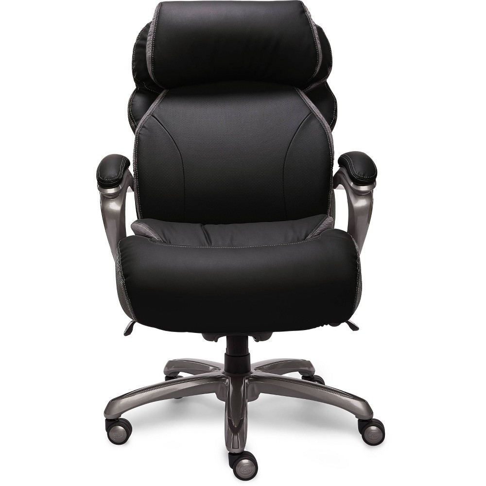 Big & Tall Smart Layers Premium Elite Executive Chair with Air-Bliss Black Multi-Tone-Leather - Serta, Brown