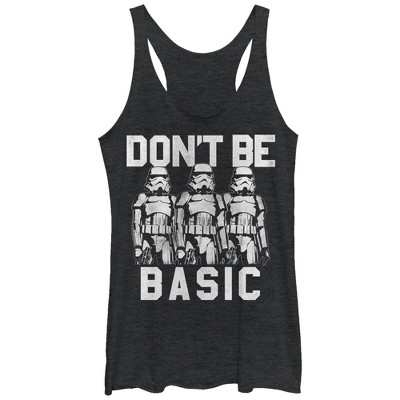 Women's Star Wars Don't Be Basic Stormtroopers Racerback Tank Top