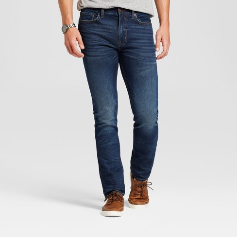 Men's Skinny Fit Jeans - Goodfellow & Co™ Dark Vintage Wash - image 1 of 6