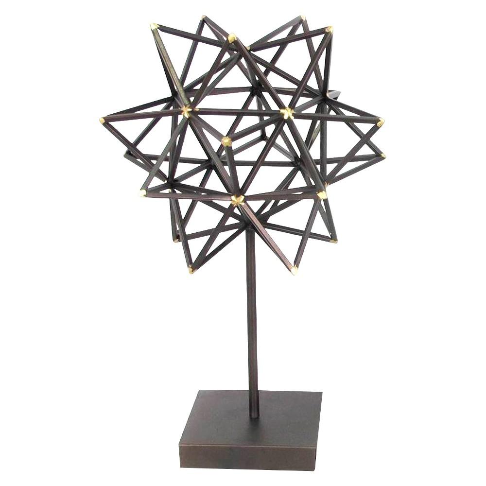 Image of Decorative Metal Tabletop Figurine - Brown