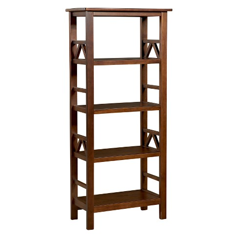 "Titian 54.45"" Bookcase Brown - Linon - image 1 of 5"