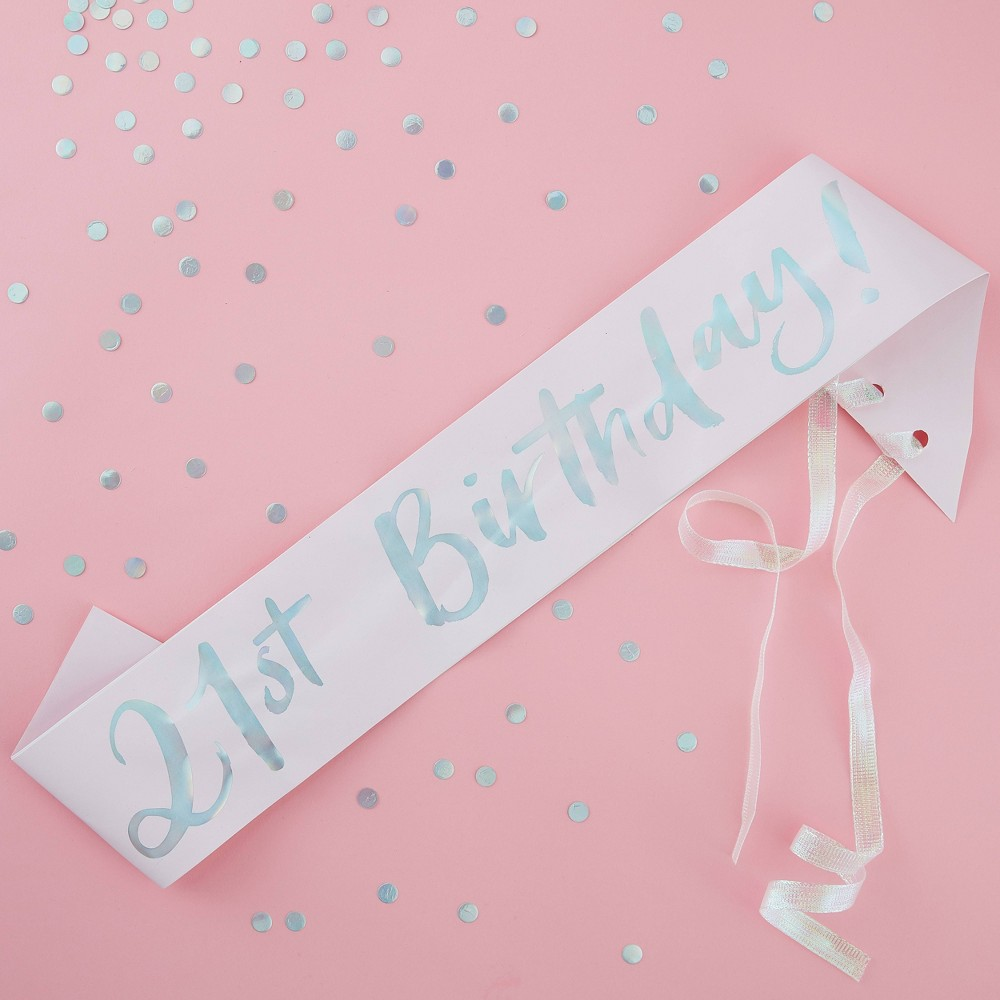 "Image of """"""21st Birthday"""" Party Sash"""