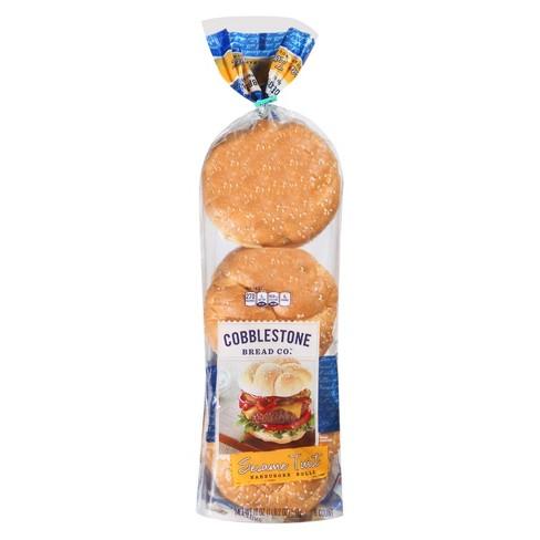 Cobblestone Bread Co. Sesame Twist Hamburger Rolls 18 oz - image 1 of 1