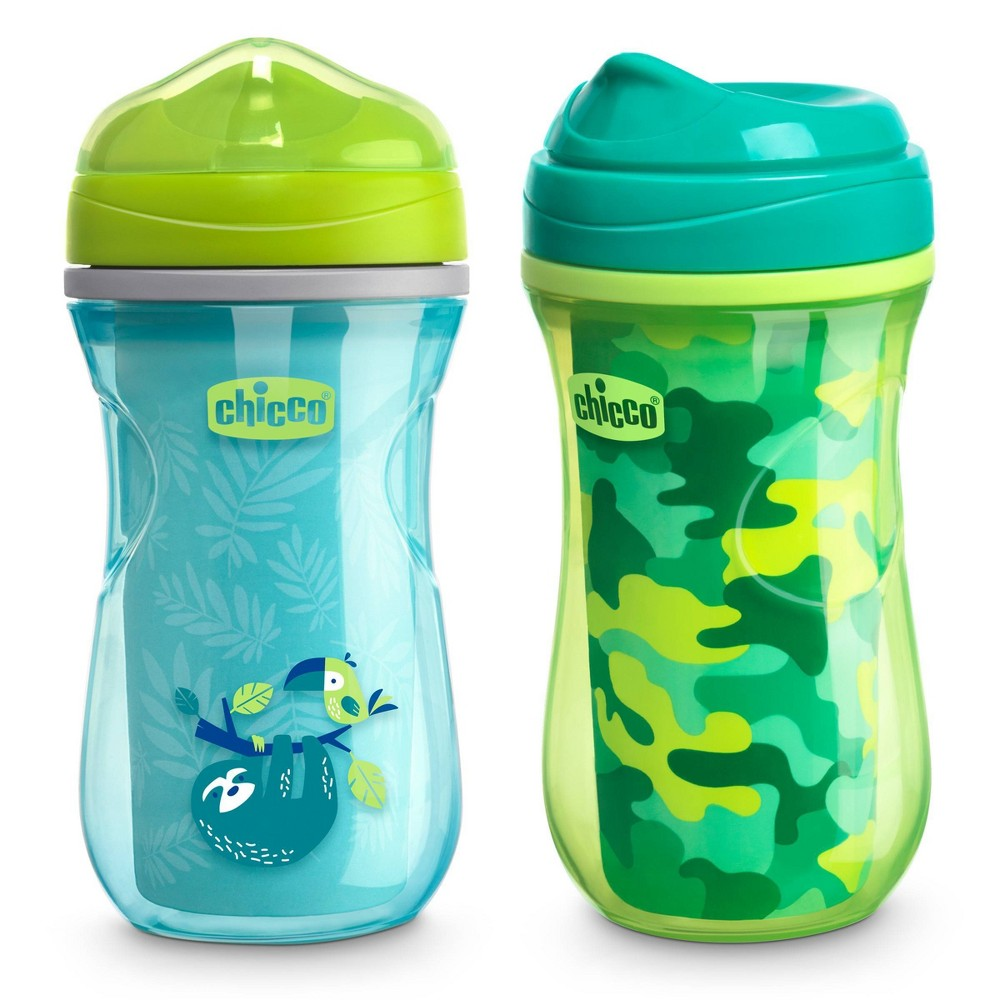 Image of Chicco Insulated Rim Spout Trainer Sippy Cup - 9oz 12m+ Green