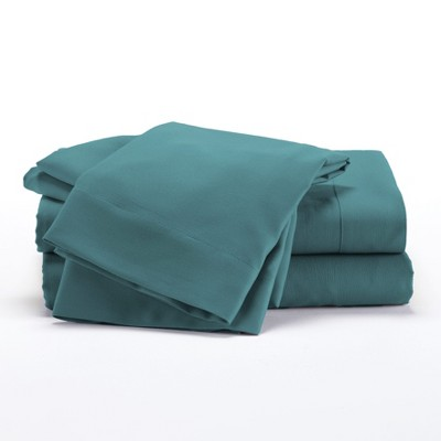 Lakeside Teal Microfiber Bedding Sheet Set with Matching Pillowcases