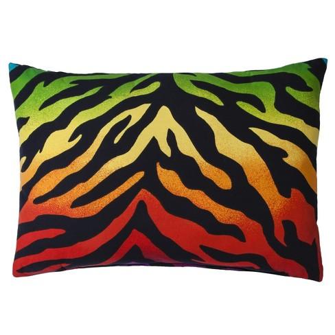 """Rainbow Zebra Lumbar Pillow (14""""x20"""") - image 1 of 1"""