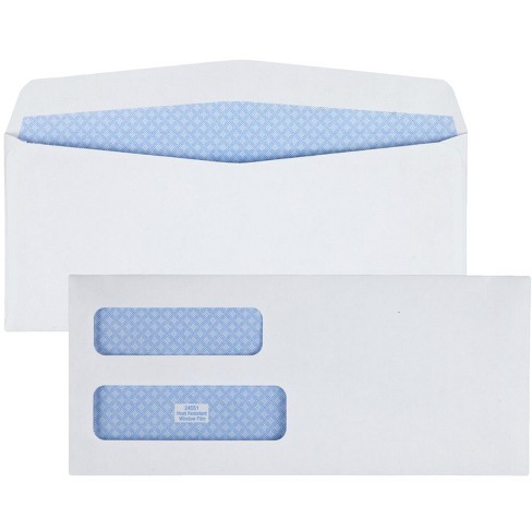 Quality Park Envelopes, Number 10, Double Window, 24 lbs, White, Box of 250 - image 1 of 1