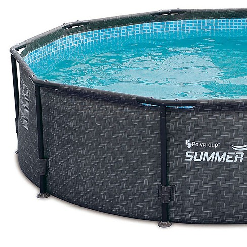 Summer Waves 10 X 30 Above Ground Frame Swimming Pool Set W Pump