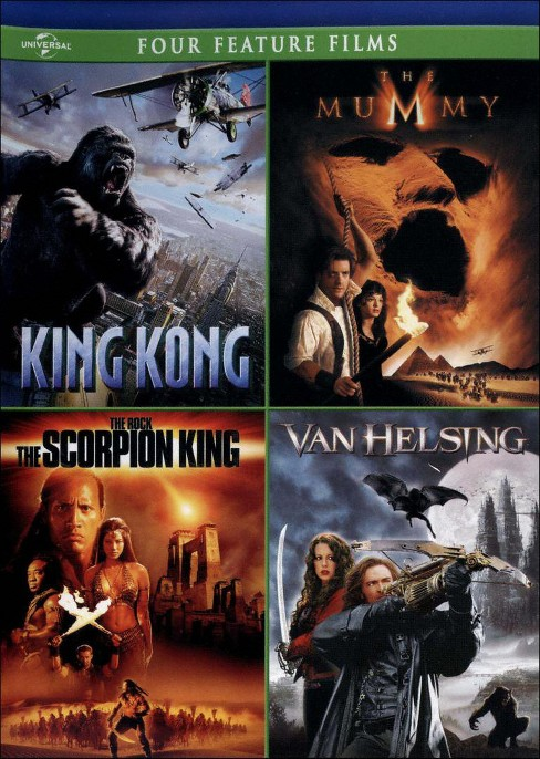King Kong/The Mummy/The Scorpion King/Van Helsing [4 Discs] - image 1 of 1