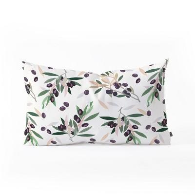 Iveta Abolina Botanical Lumbar Throw Pillow Green - Deny Designs