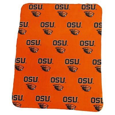 NCAA Oregon State Beavers Repeating Logo Classic Fleece Throw Blanket