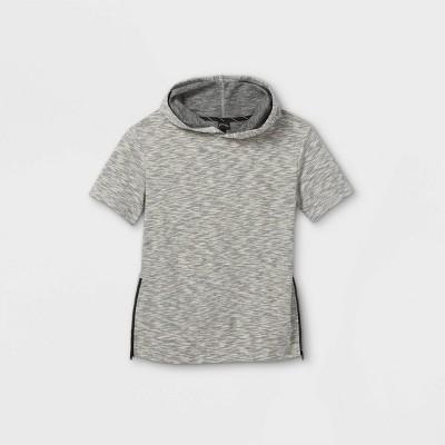 Boys' French Terry Short Sleeve Hoodie Sweatshirt - art class™ Gray