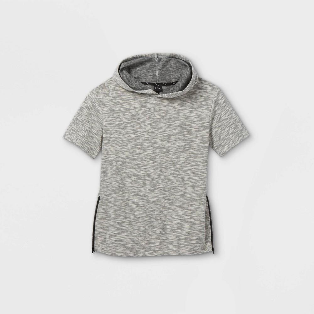 Boys 39 French Terry Short Sleeve Hoodie Sweatshirt Art Class 8482 Gray Xs