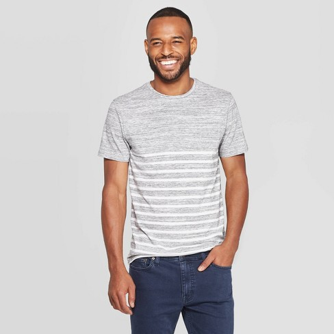 Men's Striped Standard Fit Novelty Crew Tee Shirt - image 1 of 3