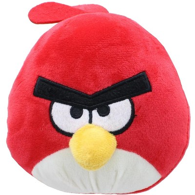 Johnny's Toys Angry Birds 7 Inch Plush Character Head | Red Bird
