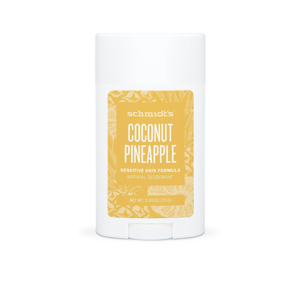Image of Schmidt's Coconut Pineapple Aluminum-Free Natural Deodorant Stick for Sensitive Skin - 2.65oz