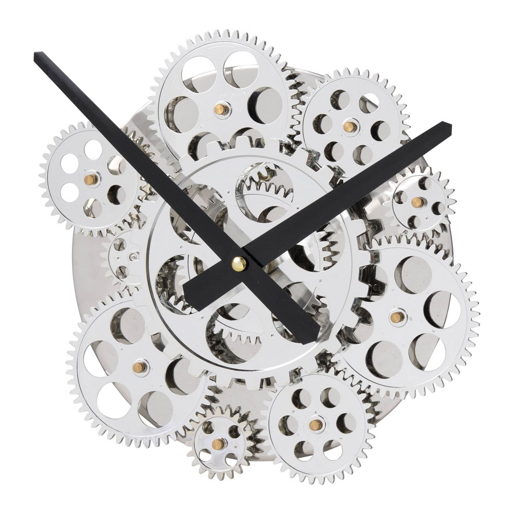 "Image of ""10"""" Wall Clock Silver - A&B Home"""