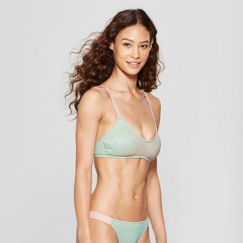 f7a1062bc0 Women s Textured Metallic Bralette Bikini Top - Xhilaration™ Metallic Multi  XS