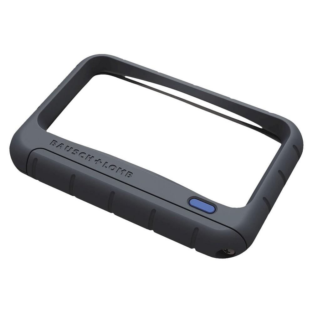Bausch & Lomb Handheld Led Magnifier Rectangular 4 x 2, Black
