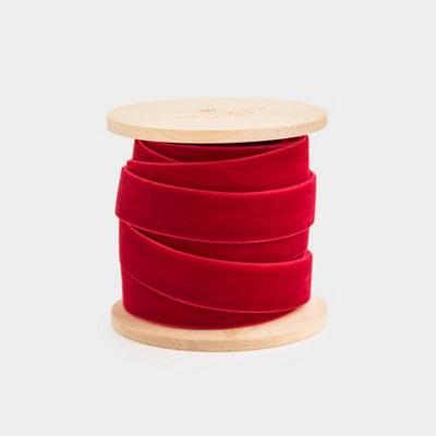 """5/8"""" Red Velvet Ribbon - Sugar Paper™"""