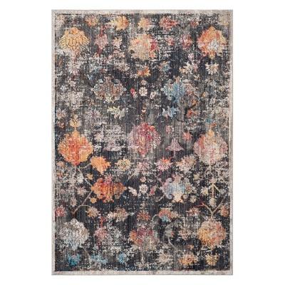 4'x6' Floral Loomed Area Rug Gray - Safavieh