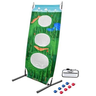 GoSports BattleChip Vertical Golf Challenge 26 x 48 Inch Outdoor Backyard Lawn Game with Vertical Target, 8 Golf Balls, and Scoreboard