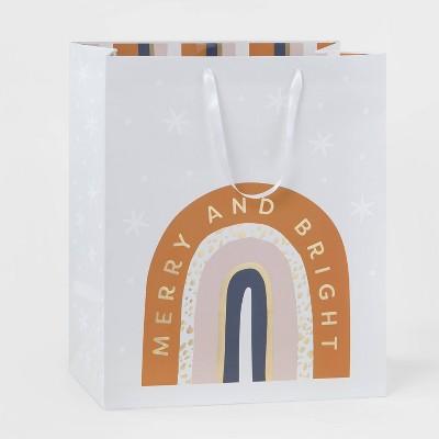 Jumbo Merry & Bright Gift Bag Boho Rainbow - Wondershop™