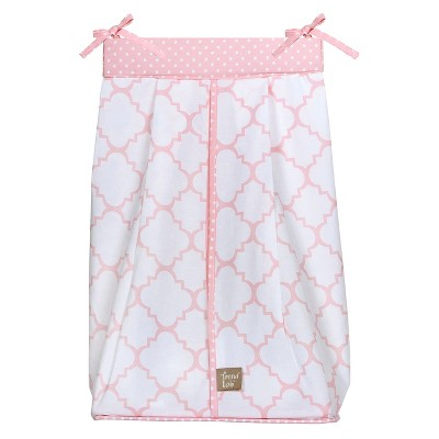 Trend Lab Pink Lattice Diaper Stacker