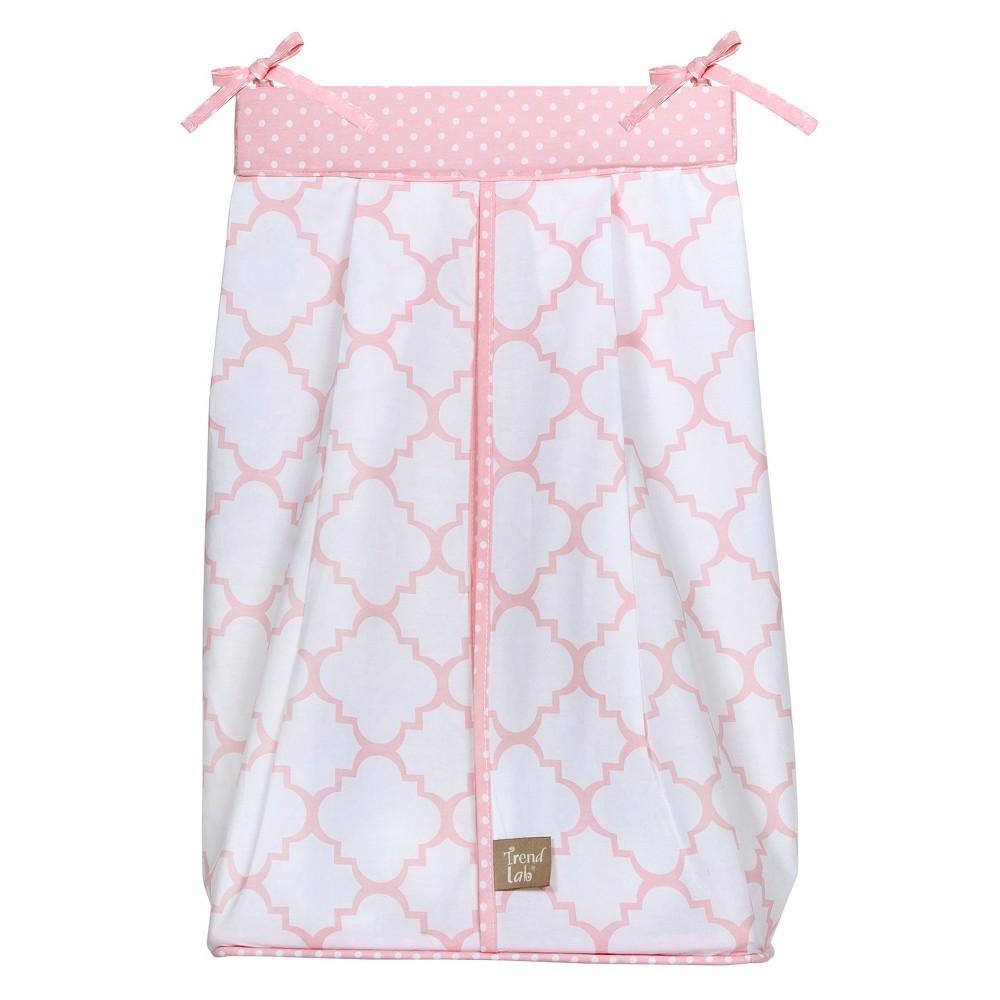 Trend Lab Pink Lattice Diaper Stacker