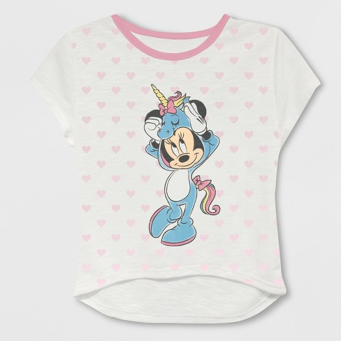 92d9d7a4 Toddler Girls' Mickey Mouse & Friends Minnie Mouse Short Sleeve T-Shirt -  White