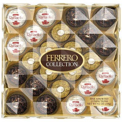 Ferrero Rocher Collection Assorted Chocolates Variety Pack - 9.1oz