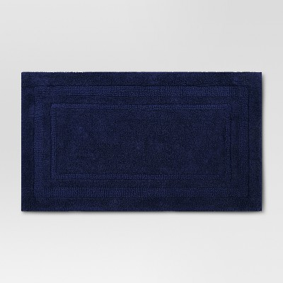 34 x20  Performance Cotton Bath Rug Navy Blue - Threshold™