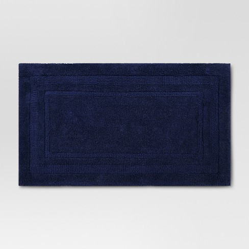 Performance Cotton Bath Rug Navy Blue