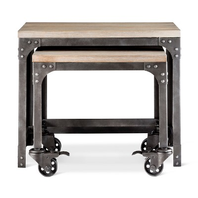 Franklin Industrial 2 Piece Nesting Tables