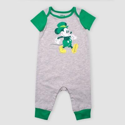c6cc8ae9b1 Baby Disney Mickey Mouse Short Sleeve Romper - Gray