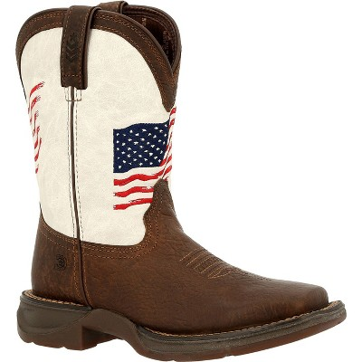Lil' Rebel by Durango Kids Distressed Flag Western Boot