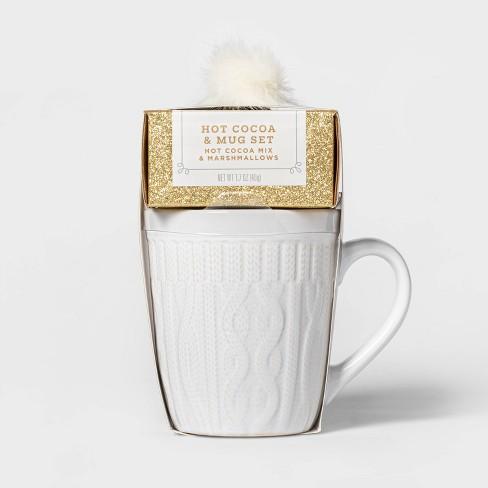 Holiday Sweater Mug with Cocoa and Mini Marshmallows - 1.7oz - Wondershop™ - image 1 of 1