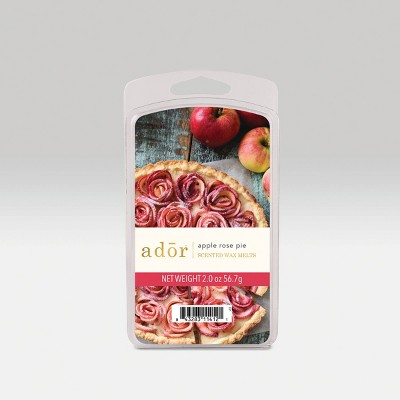 2oz 6pc Wax Melts Apple Rose Pie - Ador