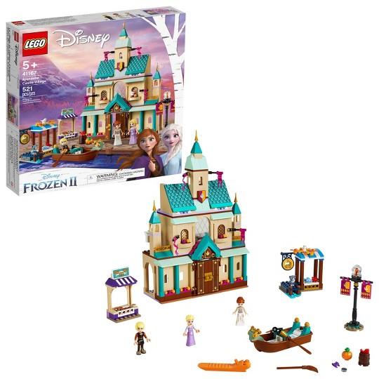 LEGO Disney Princess Frozen 2 Arendelle Castle Village 41167 Toy Castle Building Set for Imaginative Play image number null