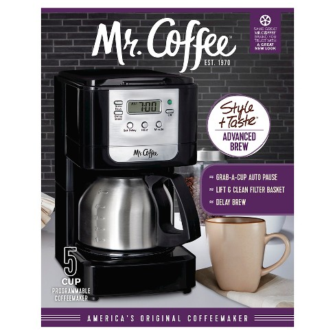 Mr Coffee Advanced Brew 5 Cup Programmable Coffee Maker With