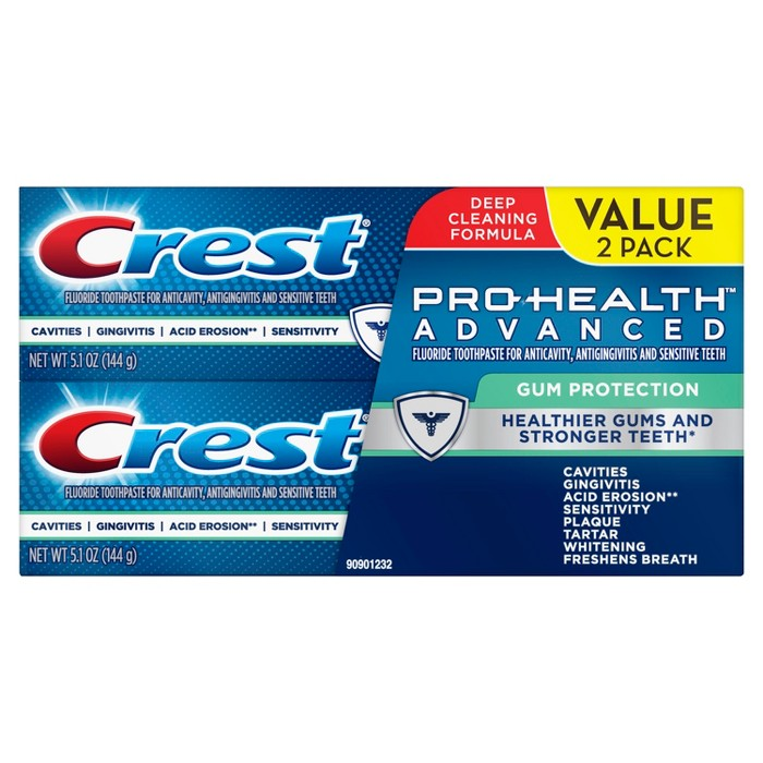 Crest Pro-Health Advanced Gum Protection Toothpaste Twin Pack - 5.1oz : Target