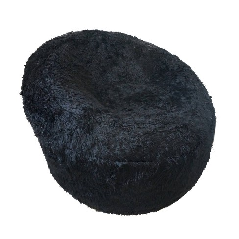 Papasan Faux Fur Inflatable Chair Black - Iron Cloud - image 1 of 4